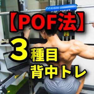 【POF法】背中トレーニング3種類×3パターン作ってみた【初心者用】