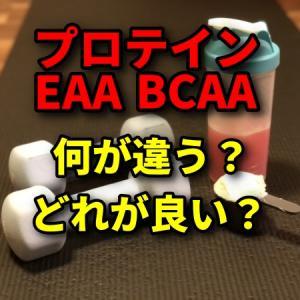 【プロテイン・EAA・BCAAの違い】EAAあればプロテインいらない?