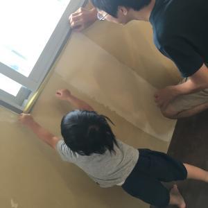 壁と天井を塗る③〜塗装はマスキング命〜