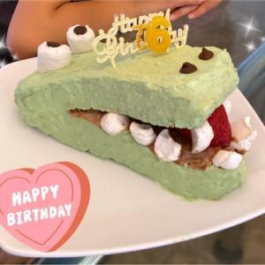 ワニの誕生日ケーキを作りました