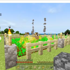 【マイクラ】簡単、小さい自動収穫畑と牧場