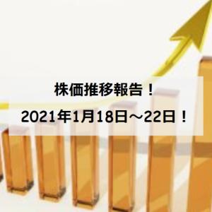 【資産運用】保有銘柄の株価推移(2021/1/18~22)