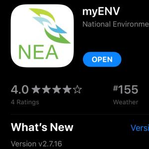 政府アプリ【myENV】を知りませんでしたァ!!!
