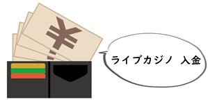 ライブカジノ 入金