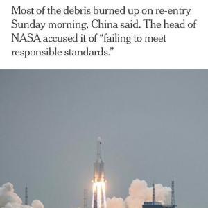 NASA、「中国はスペースデブリに関して無責任」 それより裏切り者を!