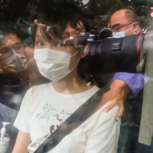 香港反乱分子周庭が釈放