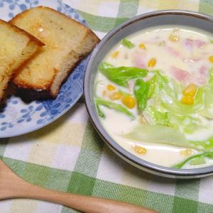 キャベツの牛乳スープの夜。