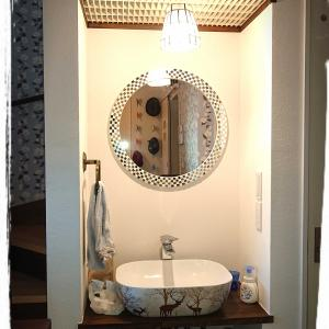WEB内覧会: 玄関手洗い&リビング手洗い  偶然、新型コロナ対策に合っていたこと。