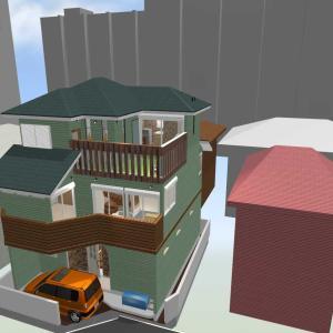計画中の思い出:3Dマイホームデザイナーで自分でパース作成