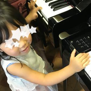 6歳と3歳、ピアノ始まりました..ʕʘ‿ʘʔ