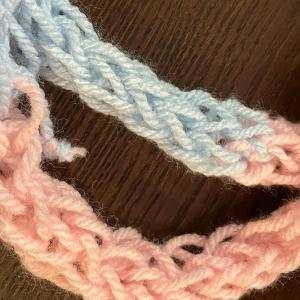 ギャース子、幼稚園から編み物にはまる。