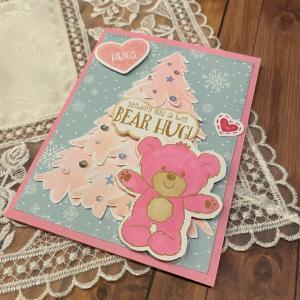 ピンククリスマスツリー&テディベア