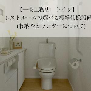 【一条工務店】トイレの選べる標準仕様設備(収納やカウンターについて)