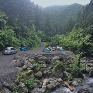 大岳キャンプ場 上流サイトへ