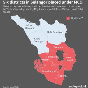 スランゴール州の一部がMCOに移行するとな