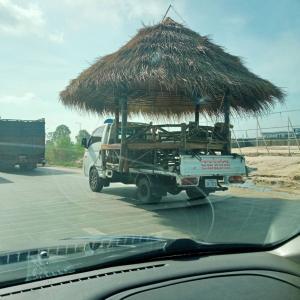 カンボジア式 移動住居...?