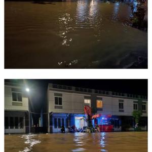 大雨による洪水で、我が家水没...