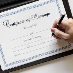 ビザ申請の際の婚姻証明書・出生証明書