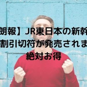 【朗報】JR東日本の新幹線50%割引切符が発売されます!絶対お得