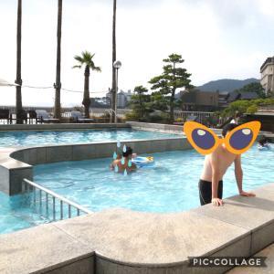 【淡路島旅行3】ホテルに子ども向けプールがあったので
