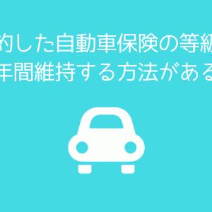 車を手放して保険を解約してもらえる中断証明書で10年間等級が維持される件