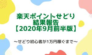 楽天ポイントせどり結果報告【2020年9月前半】