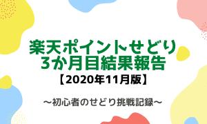 楽天ポイントせどり 3か月目結果報告ブログ【利益先月比マイナス24%】