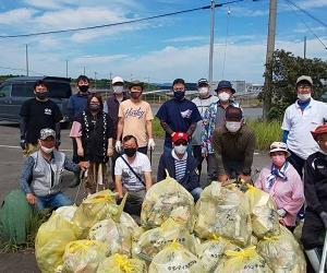 緊急事態宣言再延長42釣り場の清掃活動