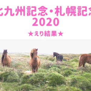 【競馬】北九州記念・札幌記念2020★えり結果&反省会
