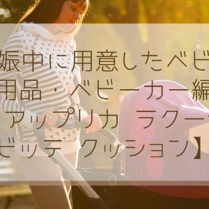 妊娠中に用意したベビー用品・ベビーカー編【アップリカ ラクーナ ビッテ クッション】