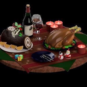 Fusion360でクリスマスな料理を作りました!