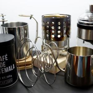 街で噂?の「ダイソー手挽きコーヒーミル」をゲット!!作業机の自作コーヒードリップセットを紹介しながら、美味しいコーヒー淹れますよ。