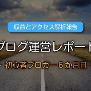 【収益公開】ブログ初心者6か月目の運営報告