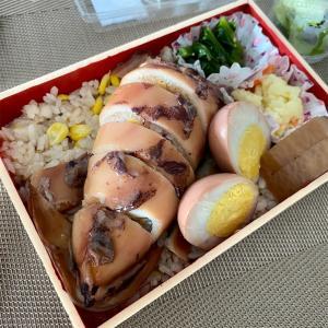 イカ飯とゆうちゃんトマト@北海道原始焼(お持ち帰り)