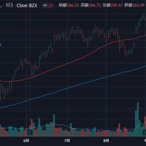 グロース株のチャートをなんとなくチェック