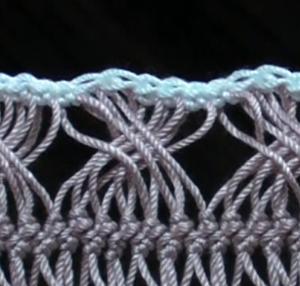ブレードをつなごう(6)-縁編みをしてからつなぐ方法その2