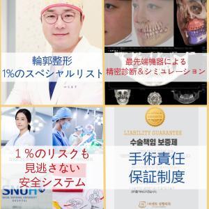 「輪郭手術専門」韓国1パーセント整形外科の1%のこだわり!