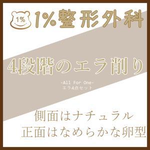 「韓国輪郭専門」側面はナチュラル、正面はVライン→エラ4点セット