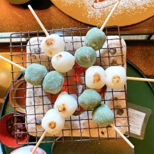 【eX cafe(イクスカフェ)京都嵐山本店】旧邸宅で京都絵師の描いた襖絵を眺めながら、ほくほくお団子🍡を食べよう💕