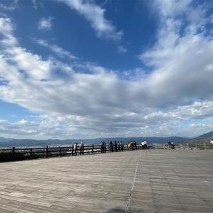 【将軍塚青龍殿🍁】📍天空の青龍殿大舞台は京都市街を一望の絶景ポイント📍