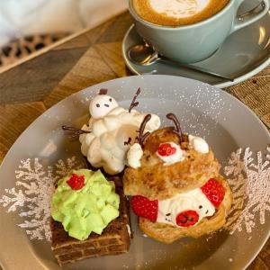 【大好きCocochi Cafe】京都丸太町カフェ🎄やっぱり可愛いクリスマススィーツ🎄
