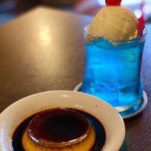【京都三条商店街☔️雨の日のランチコース】美味しい小籠包🇨🇳魏飯夷堂と🇫🇷ウワサの大人プリンと青いクリームソーダRhône