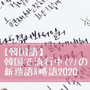 【韓国語】韓国で流行中(?)の新造語&略語2020