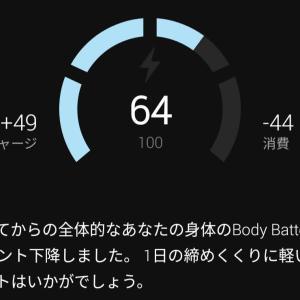[Garmin] ボディーバッテリーを今更レビュー [Instinct]