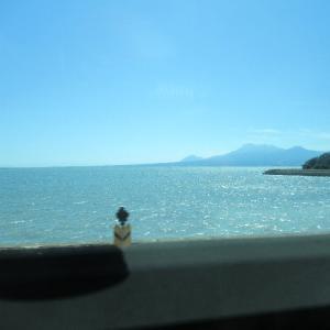 長崎本線、有明海沿いの車窓から。