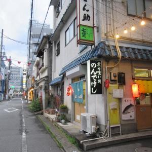 甲府駅前、ちょうちん横丁。