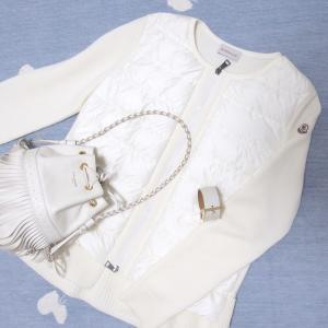 季節のはざまに着る大好きな白いニットダウン