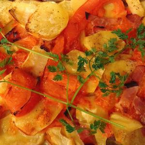 【ブランチレシピ】じゃがいもとトマトのオーブン重ね焼き