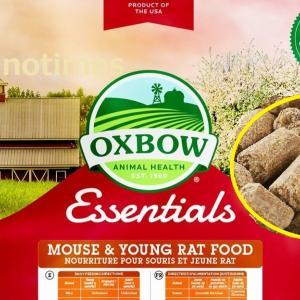 [ファンシーラットのごはん] Oxbow –  Essentials – Mouse & Young Rat Food