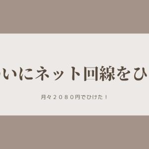【固定費】ネット回線2080円